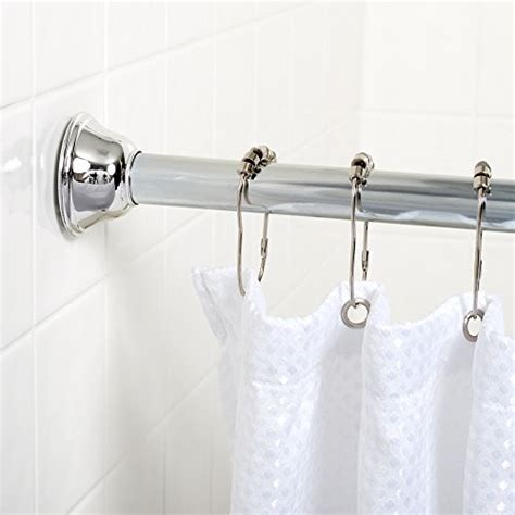 zenna home 771ss tension bathroom shower curtain rod 44 inches to 72 inches ebay