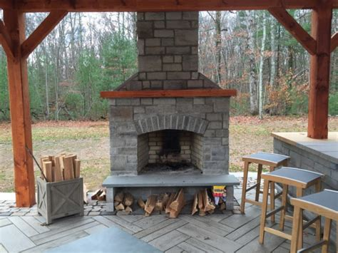 Outdoor Fireplaces : Outdoor Fireplace Kit, Masonry Outdoor Fireplace, Stone