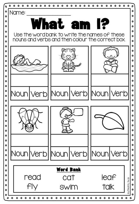 87 Best Nounverb Activities Images On Pinterest  English, English Language And For Kids