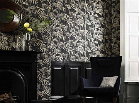 un papier peint noir et blanc pour un mur 233 l 233 gant d 233 coration