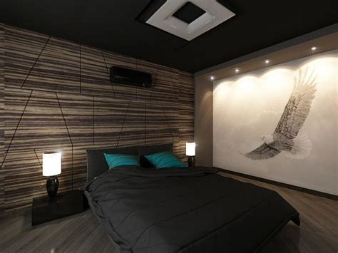 22 bachelor s pad bedrooms for energetic bedroom lighting and masculine bedrooms