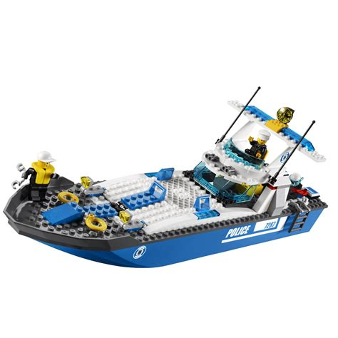 Toy Lego Boat by Lego City Police Boat 7287 Building Toy