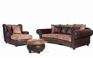 Couch Mit Sessel : big sofa hawanastil inkl big sessel und hocker nagelung messing ~ Markanthonyermac.com Haus und Dekorationen