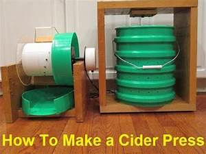 How To Make an Apple Masher and Cider Press - YouTube