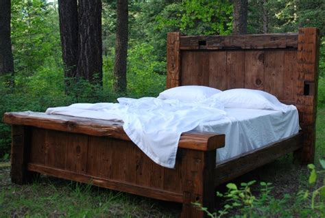 Custom Reclaimed Hand Hewn Bed  Rustic  Beds  other