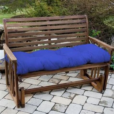 greendale home fashions 54 in outdoor bench cushion marine blue at sears