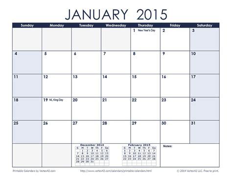 November 2016 Calendar Landscape