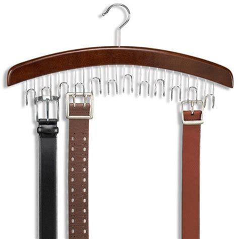 Closet Accessories 12 Hardwood Belt  Tie Hanger With
