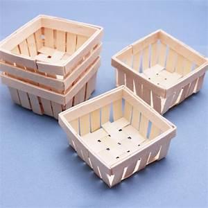 Mini Wooden Basket Favor - 6 pcs - Unique Wedding Favor ...