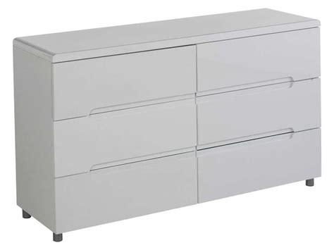 commode 6 tiroirs easy 2 coloris blanc conforama