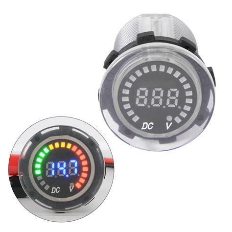 Boat Battery Gauge by Waterproof 12v 24v Car Boat Marine Voltmeter Voltage Meter