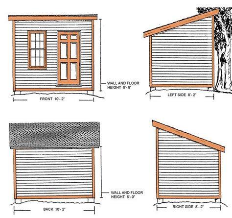 slant roof shed plans wolofi