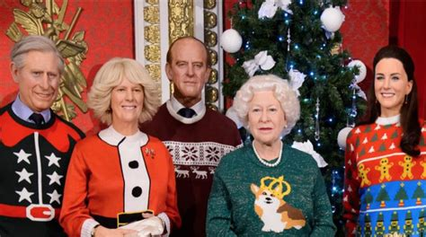 Royal Family Wax Figures Stun In Ugly Christmas Sweaters