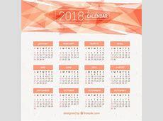 Calendrier 2018 avec des formes abstraites Télécharger