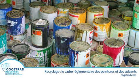 peintures et solvants comment les recycler
