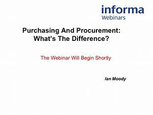 Webinar: Purchasing And Procurement What's The Difference