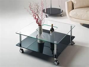 Tisch Mit Rädern : hole tischchen aus glas mit r dern ~ Markanthonyermac.com Haus und Dekorationen