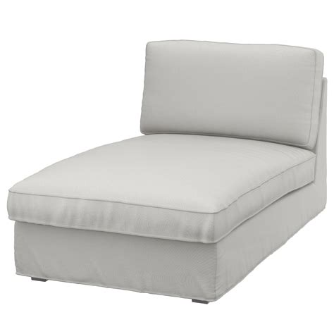kivik cover for chaise longue ramna light grey ikea