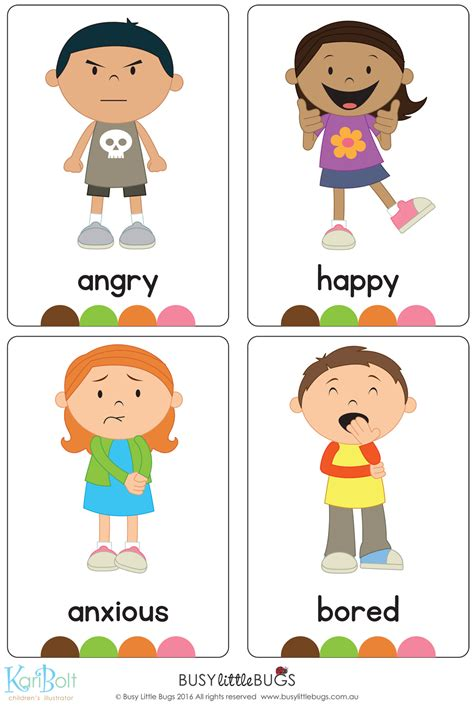 Emotions  Full Body  Flash Cards Automatic Download  Flash Cards  Pinterest Learning