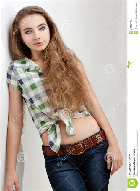 Woman Wearing Country Style Clothes Stock Image Image