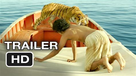 Movie Boy In Boat With Tiger by Life Of Pi Official Trailer 1 2012 Ang Lee Movie Hd