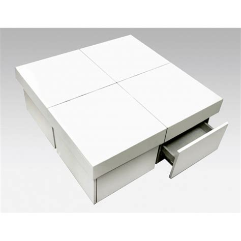 table basse carre laque blanc ezooq
