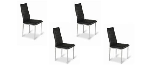 lot de 4 chaises noires pour cuisine et salle 224 manger