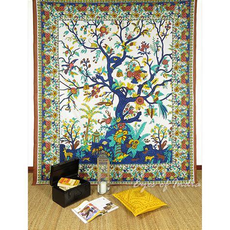 marron hippie mandala indien arbre de vie tenture tapisserie murale ebay