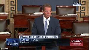 Jeff Flake takes to Senate floor to suggest Trump ...