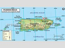 Puerto Rico Latitude and Longitude Map
