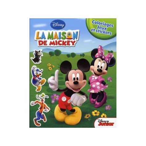 la maison de mickey coloriages jeux et stickers crocbook fr librairie discount
