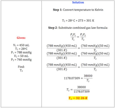 Combined Gas Law Definition, Formula & Example Video