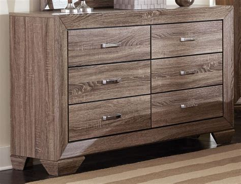 Kauffman Washed Taupe Panel Storage Bedroom Set From