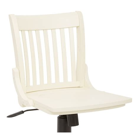 Armless Wood Bankers Chair by Armless Wood Banker S Office Chair In Antique White 101anw