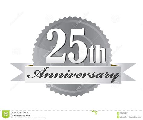 25th Anniversary Seal Stock Vector Illustration Of Celebration 15525447
