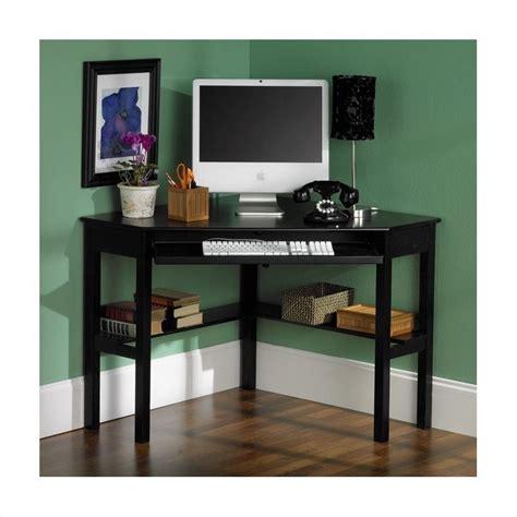 Black Corner Computer Desk by Southern Enterprises Corner Computer Desk In