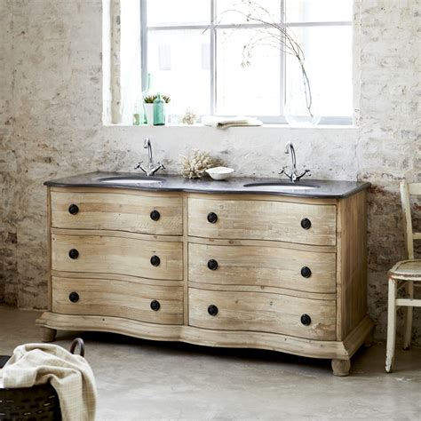 meuble vasque en pin hermione meubles en ceramique tikamoon