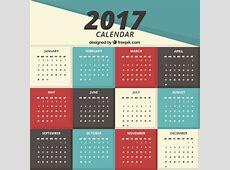 Simple 2017 calendar Vector Free Download