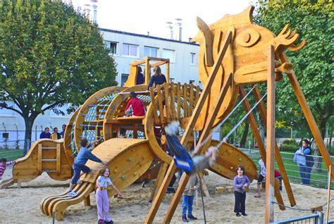 cr 233 ation aires de jeux mobilier urbain sculpures d animaux en bois pour jardin et parc