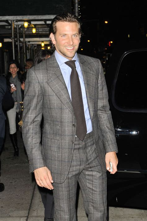 Actor Bradley Cooper Stops For Photos As He Makes His Way Out Of The 'late Show With David