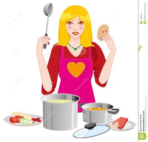 le femme dans la cuisine images libres de droits image 17036149