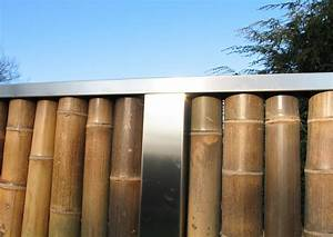 Bambus Edelstahl Sichtschutz : bambus zaunelemente moderner sichtschutz ~ Markanthonyermac.com Haus und Dekorationen