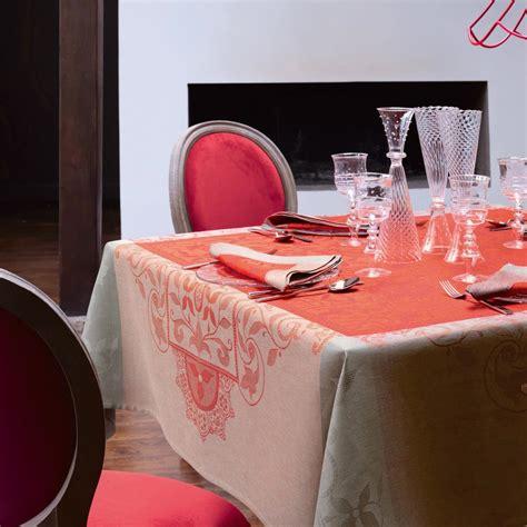 nappe venezia cornaline 100 nappes la table le jacquard fran 231 ais