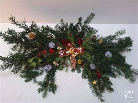 couronne de noel et decoration de table nature eure