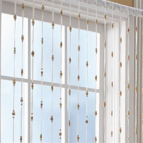 bamboo bead jewelry window curtain panel bed bath beyond for the home
