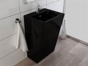 Stand Wc Eckig : design standwaschbecken waschtisch waschbecken s ule kbe3s schwarz ebay ~ Markanthonyermac.com Haus und Dekorationen