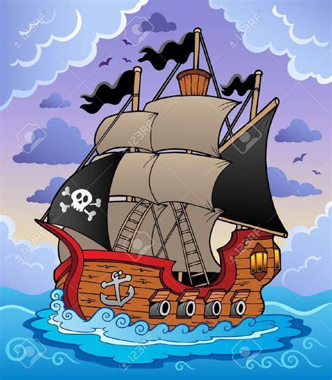 Barco Pirata Ilustracion by Barco Pirata En El Mar Tormentoso Ilustraci 243 N Vectorial