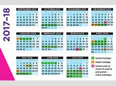 School Calendar 2017 2018 Templates Example 2018