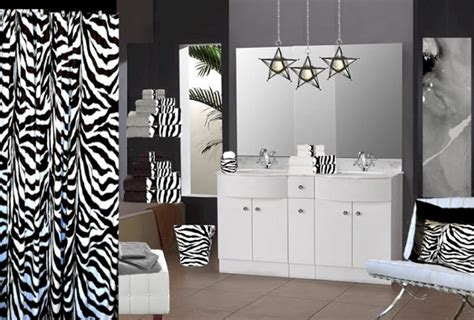 zebra print bathroom decor and accessories home interiors