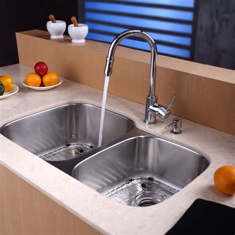 kraus kbu24kpf1622ksd30sn 32 inch undermount bowl stainless steel sink with pull out